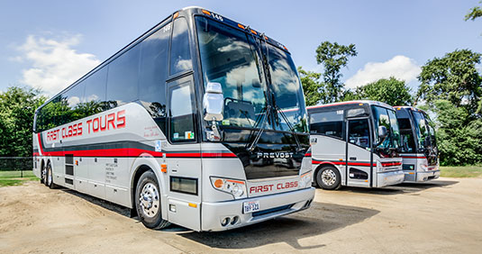 Bus Rental Houston, Texas, Charter Bus Equipment