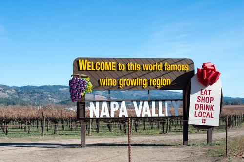 Napa Valley wine tour, charter bus rental Texas